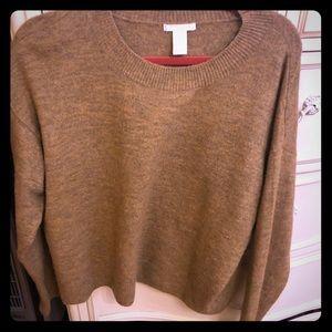 Cozy tan oversized sweater ! Worn 1x!
